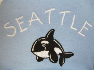 Embroidered Orca R1928